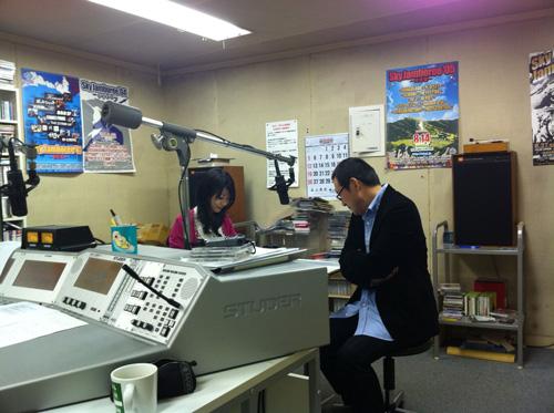 FM長崎のスタジオ
