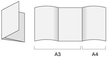 仕上がりA4、巻3つ折りの会社案内